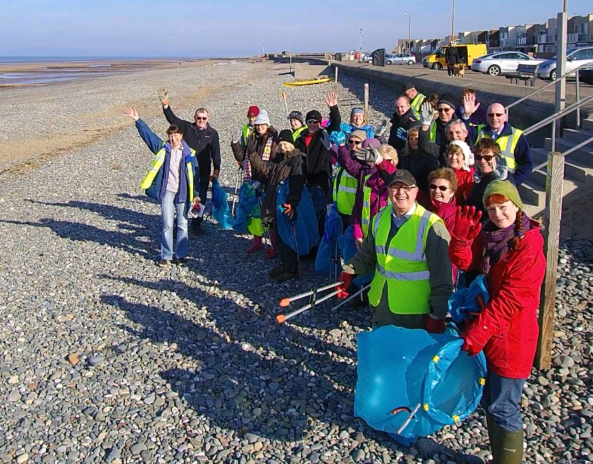Rossall Beach residents clean up