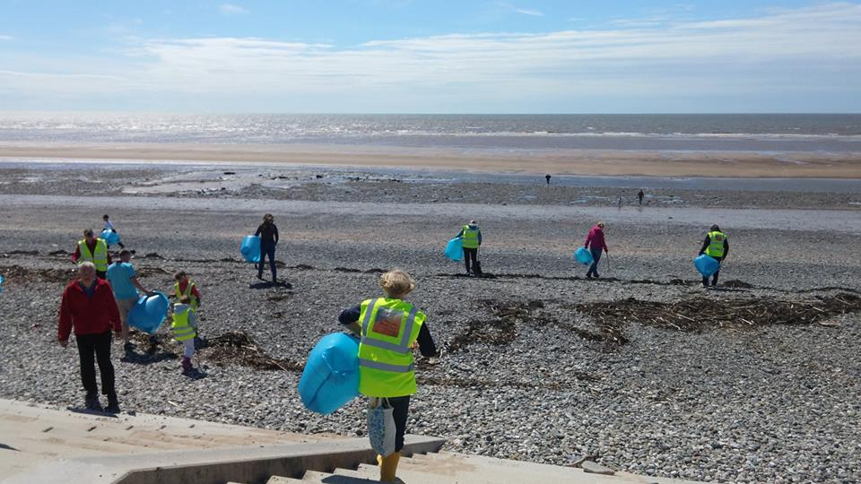 Cleveleys Beach Clean